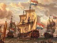 schepen met nederlanders op weg naar nederlands-indie