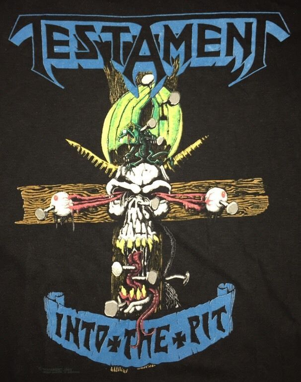 rare 1988 vintage testament shirt #80s original metal tour band concert from…