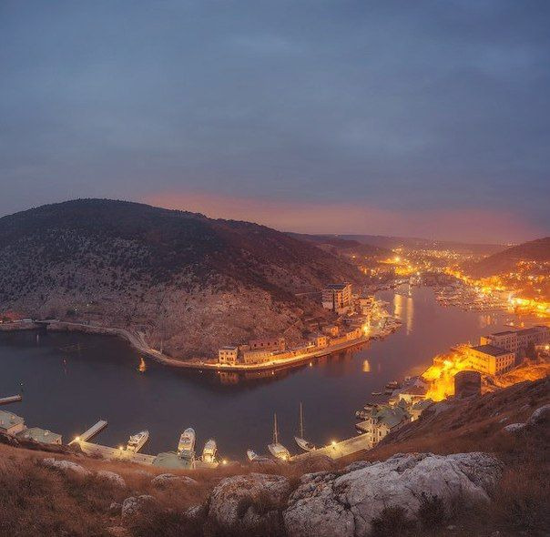 Вечерняя Балаклава, Крым. Россия. Balaklava night. Crimea, Russia