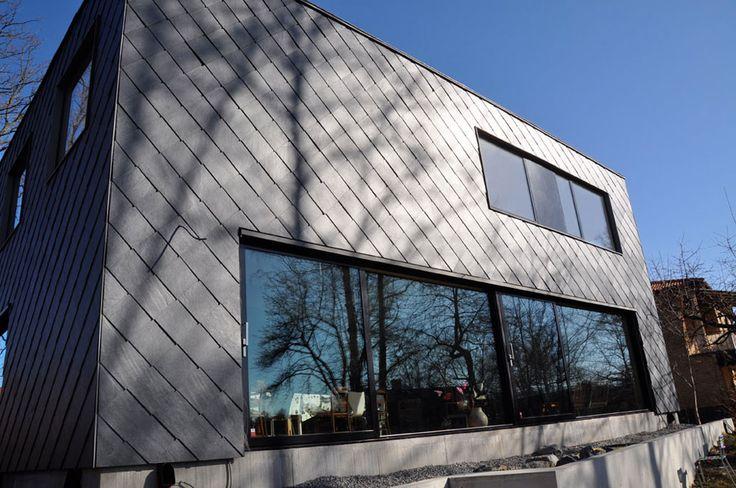 Hus Thiel takskiffer på fasad och tak - Nordskiffer