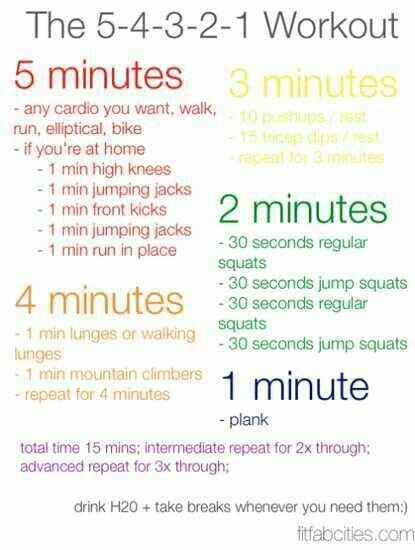 Quick workout on the go