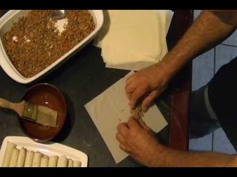 CHUCHEMAN   como hacer  lumpia ( comida filipina)