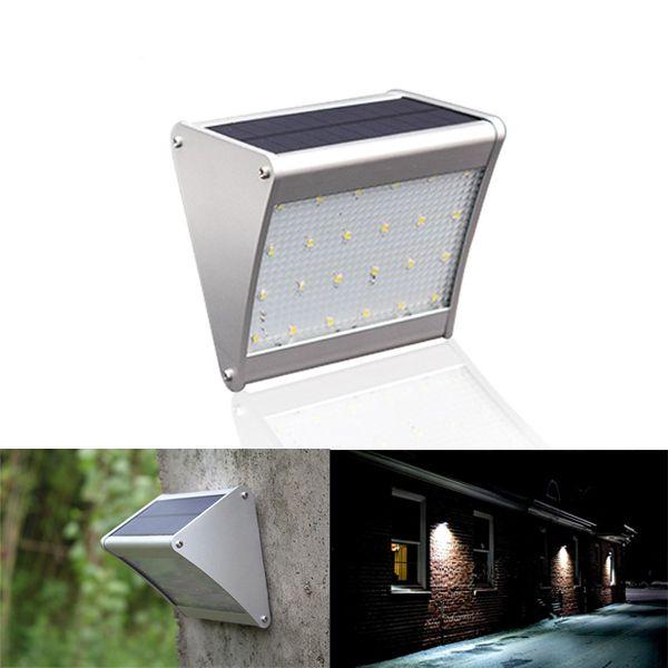 Solar Power 24 Led Microwave Radar Motion Sensor Light Waterproof