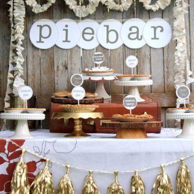 rustic barn wedding PIE BAR idea www.MadamPaloozaEmporium.com www.facebook.com/MadamPalooza