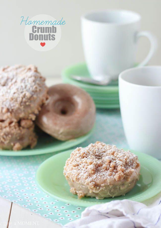 Homemade Crumb Donuts   Baking a Moment