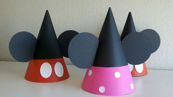 party hats: Minnie Birthday, Mickey Mouse Birthday, Birthday Hats, Minnie Mouse, Birthday Parties Hats, Parties Ideas, 2Nd Birthday, Mouse Parties, Birthday Ideas