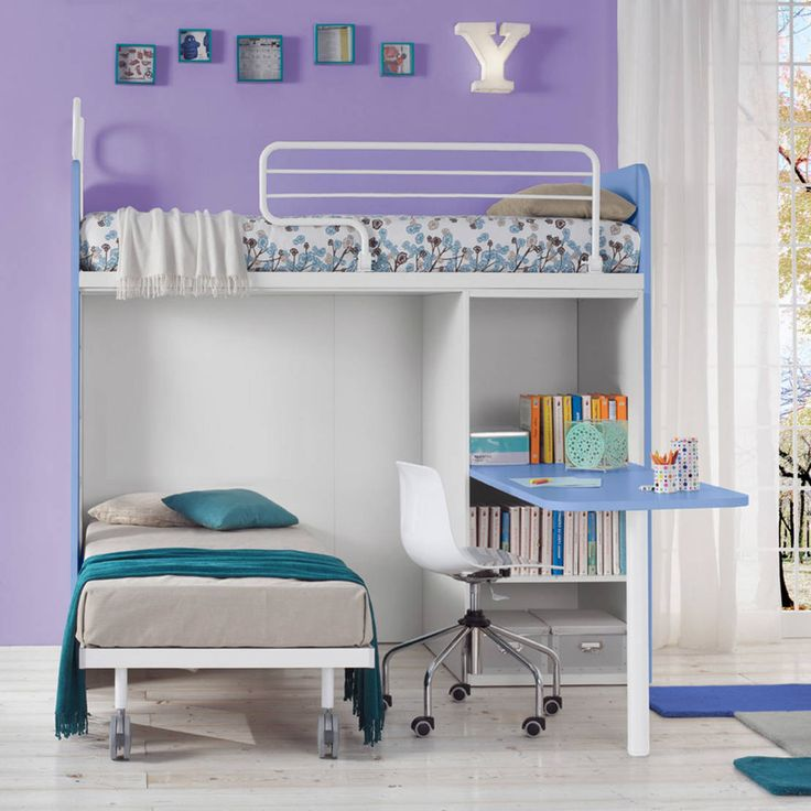 'Genio I' bunk bed with writing desk by Corazzin : Beds & cribs by My Italian Living