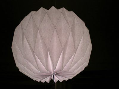 Paper lamp. Includes helpful folding template and instructions