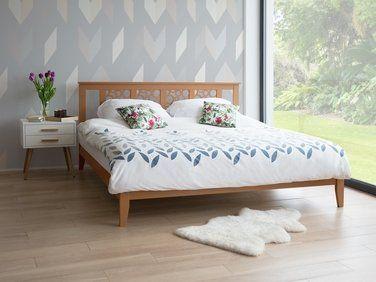 lit classique en bois 180x200 cm marron clair caen