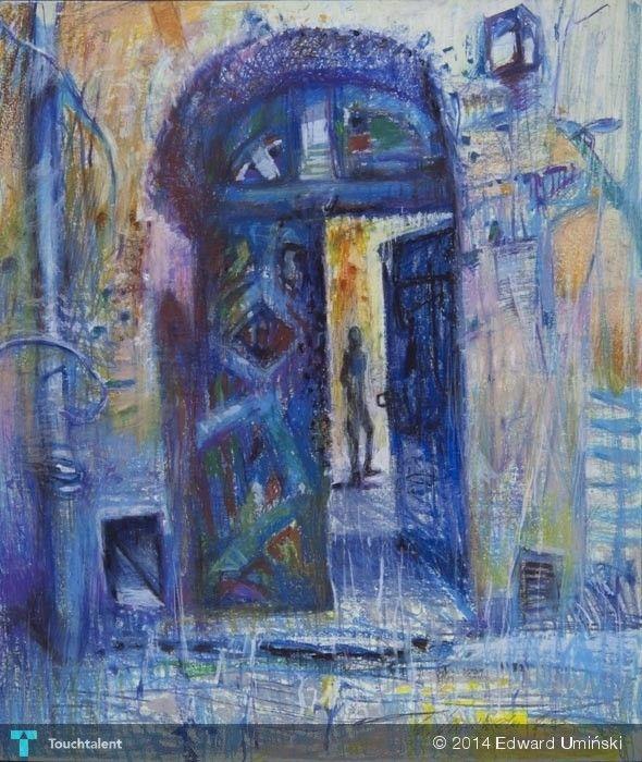 Brama na Kazimierzu 2003 | 78 x 65 cm | tłusta pastela