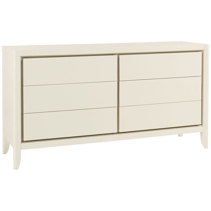 caracole snow white 6 drawer dresser