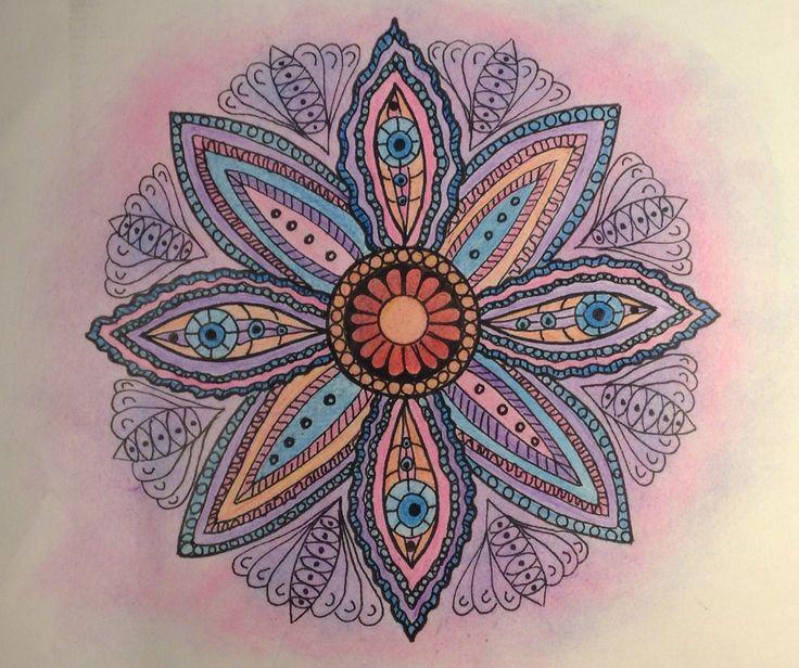 Mandala- pink & violet pencil