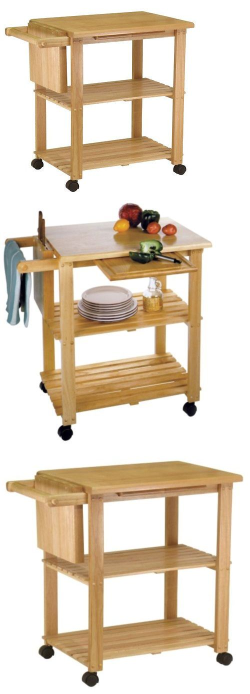 Kitchen Islands Kitchen Carts 115753: Kitchen Utility Cart Microwave Island Stand Butcher Block Cutting Board Rolling -> BUY IT NOW ONLY: $113.76 on eBay!