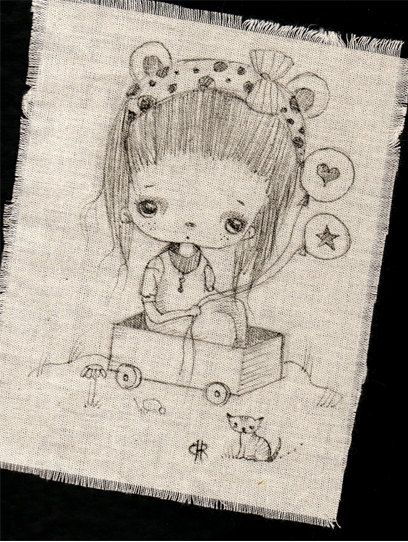 Original+Pen+Ink+Fabric+Illustration+by+by+ppinkydollsart+on+Etsy,+$8.50