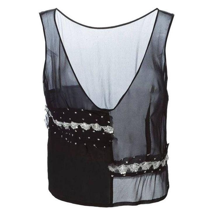 Black Silk Top Comme Des Garcons 1