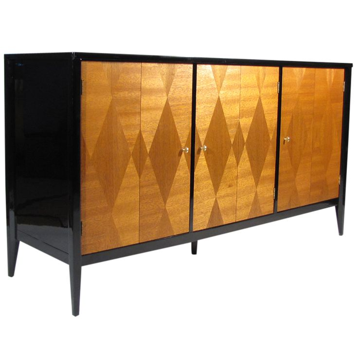 Superior Diamond Black Lacquered Dresser