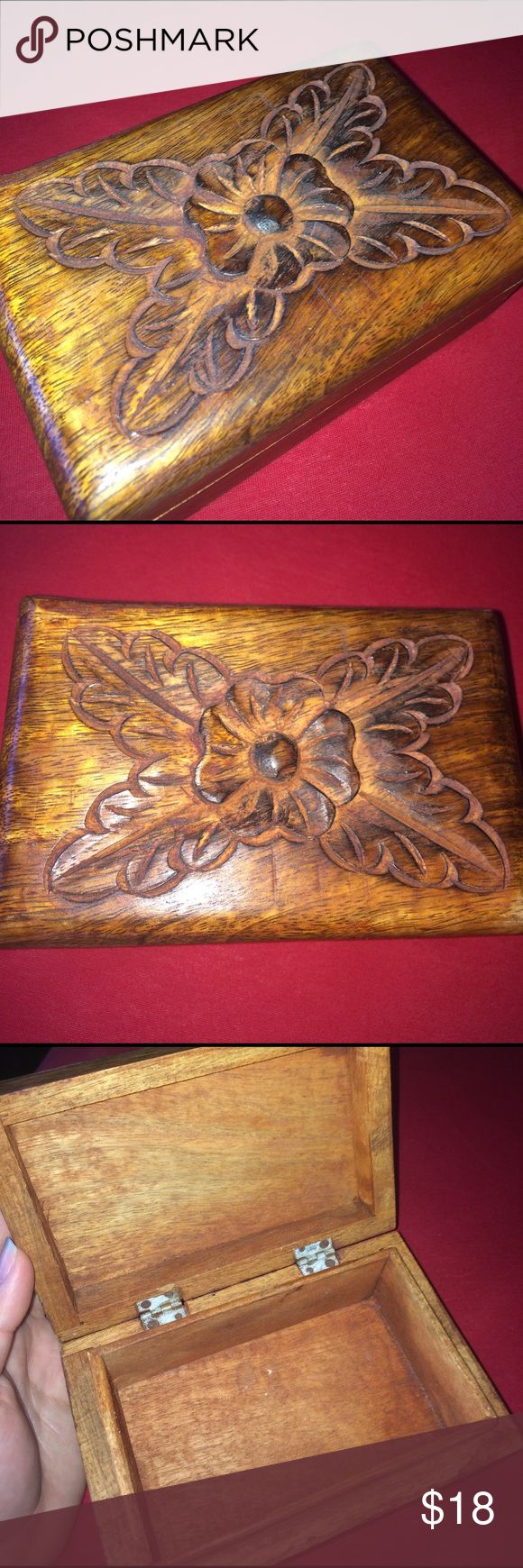 Wooden Engraved Jewelry Box Wooden Jewelry Box. Adorable! Jewelry Earrings