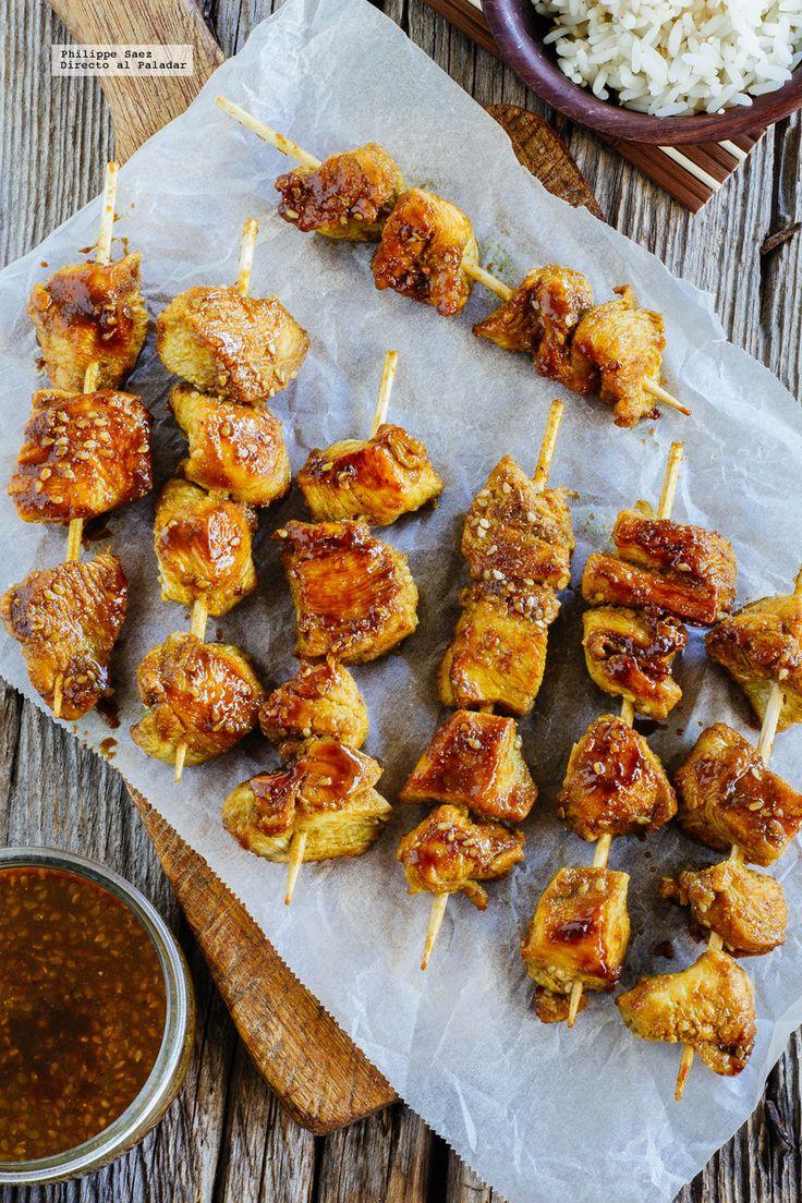 Brochetas de pollo Satay, focaccia crujiente de requesón y queso de cabra y mucho más