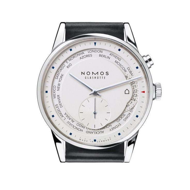 Nomos Zurich World Timer Stainless Steel Wristwatch NO-805
