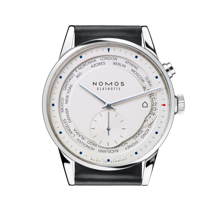 Nomos Zurich World Timer Stainless Steel Wristwatch NO-805