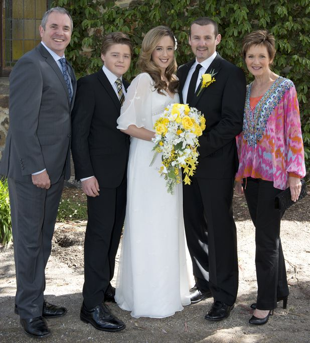 Sonya & Toadie Wedding - Karl, Callum, Sonya, Toadie & Susan #Neighbours #NeighboursWedding