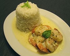 Creamy garlic prawns recipe - Dinner recipes