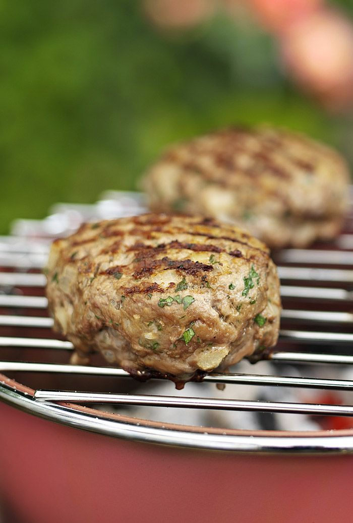 Plenty of spices and mango chutney make this lamb burger sweet and hot! Great for a summer barbecue.