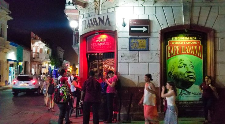 World Famous Cafe Havana in old Cartagena.