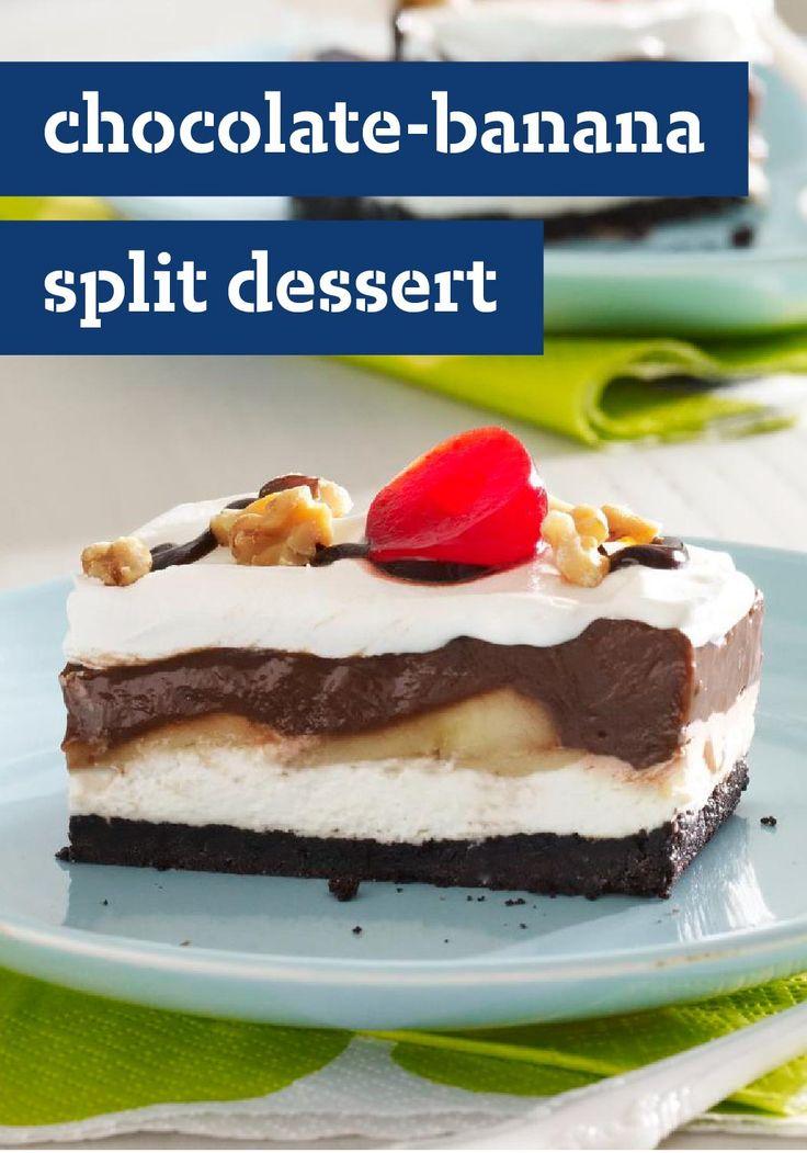 Kraft Recipe Banana Split Cake