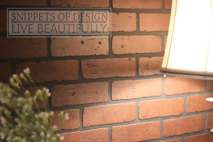Diy Faux Brick Wood Wall Panels Sold In Sheets Lowe 39 S