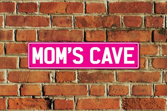 This listing is for one brand new MOMS CAVE metal sign, made of aluminium composite material with full colour printing, created by Doozi.