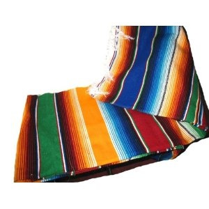Large Authentic Mexican Blankets Colorful Serape Blankets Orange
