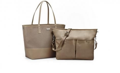 Taupe Duet 2 in 1 Tote Diaper Bag by Skip Hop
