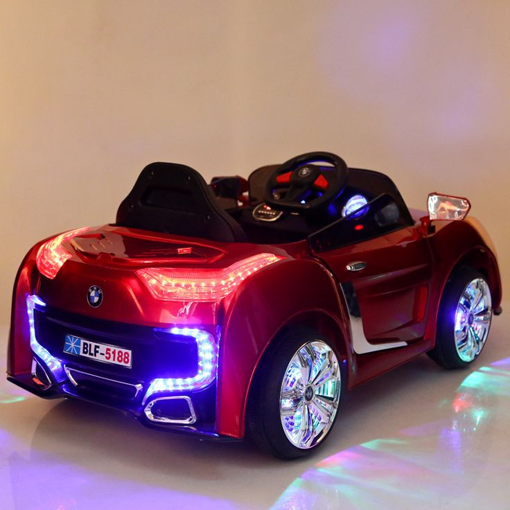 with remote controller double open door kids ride on electric baby stroller four wheel dual drive music light sit car