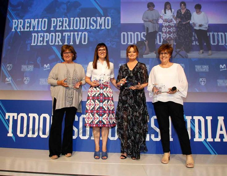 Premio Periodismo Deportivo: MARÍA ESCARIO, OLGA VIZA, MÓNICA MARCHANTE, ROSANA ROMERO © Club Estudiantes Baloncesto