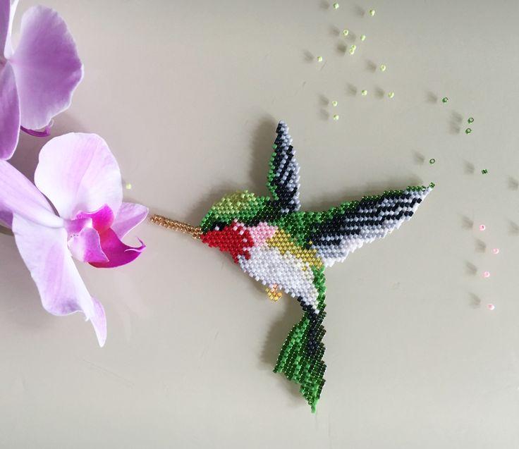 колибри из бисера фото схема приглашаем