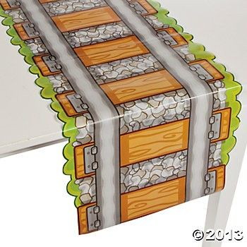 Railroad Track Table Runner - Train Party