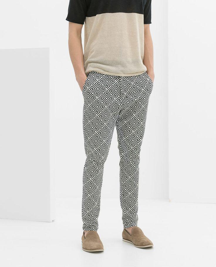 zara geometric print trousers s fashion prints screens