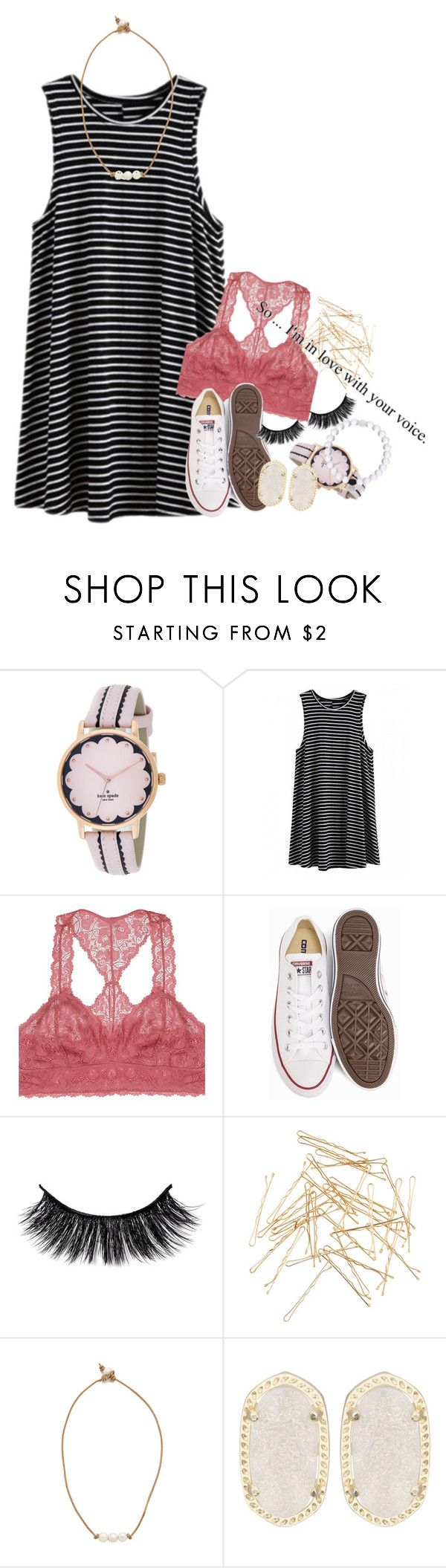"""& all of a sudden, life got super confusing"" by ellaswiftie13 ❤ liked on Polyvore featuring Kate Spade, Youmita, Converse, Monki, Lead and Kendra Scott"
