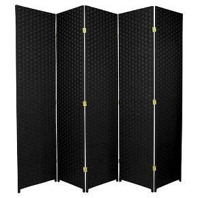 6 ft. Tall Woven Fiber Room Divider - Oriental Furniture : Target