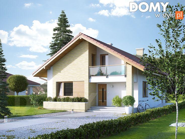 Projekt domu Amarant 2 - wizualizacja frontowa