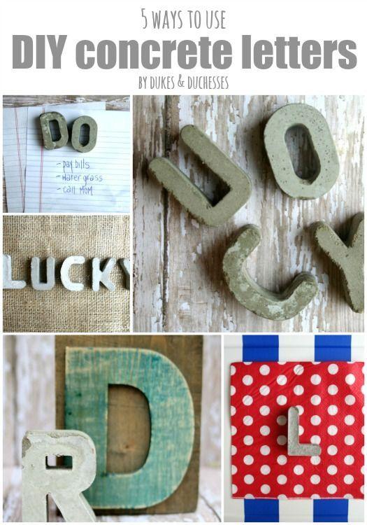 28 best diy concrete gift ideas images on pinterest diy concrete 5 ways to use diy concrete letters solutioingenieria Images