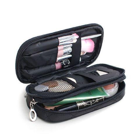 7.28€ Pequeñas Bolsas de Cosméticos Mujeres Bolsa de Viaje Neceser de Maquillaje Profesional Cepillo De Almacenamiento Organizador Necessaries Maquillaje Caso de La Belleza