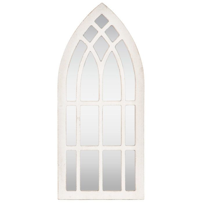 Cathedral Mirror Wood Wall Decor In 2019 Arched Wall Decor
