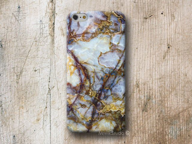Blau Marmor Hülle Samsung Galaxy S7 S6 Edge S5 S4 Note 5 A3 A5 Grand Core Prime