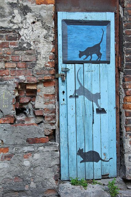 Kitties Painted on Door (01.15.15)