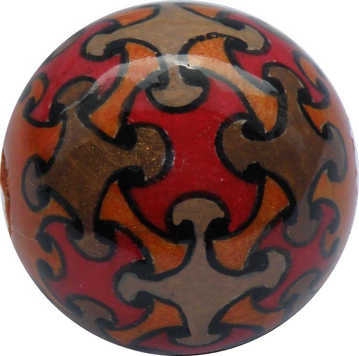 Braun-Orange-Rot und ein bischen Gold - KUNST KUGELRUND