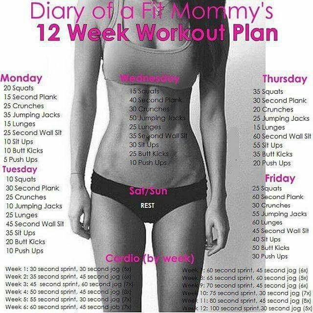12 Weeks · Home Workout PlansHome ...