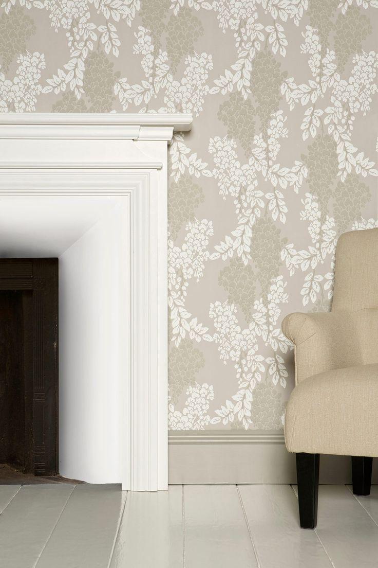 wisteria wallpaper bathroom - photo #6