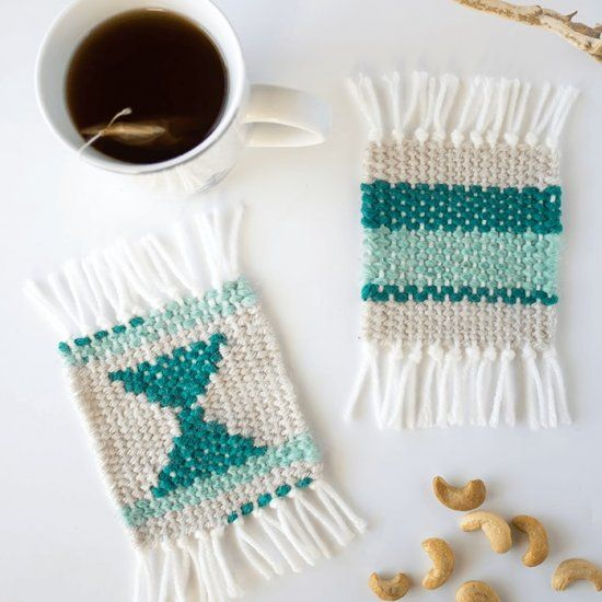 This beginners weaving project takes you step-by-step through the process, without having to purchase a loom.